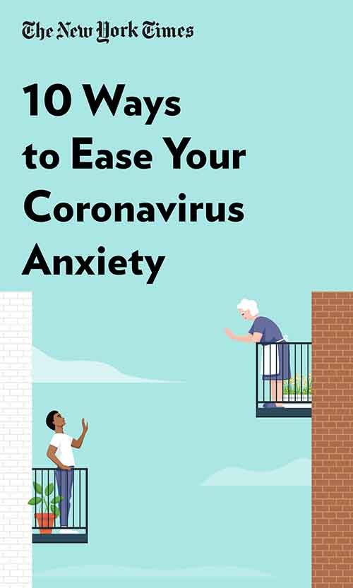 "Book Cover for ""10 Ways to Ease Your Coronavirus Anxiety"""