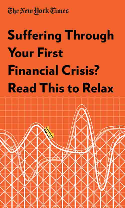 "Book Cover for ""Suffering Through Your First Financial Crisis? Read This to Relax"""