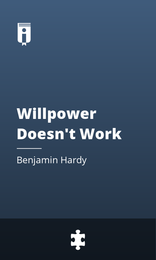 """Book Cover for """"Willpower Doesn"""