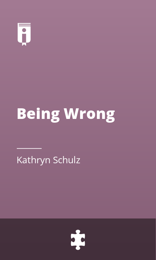 """Book Cover for """"Being Wrong"""""""