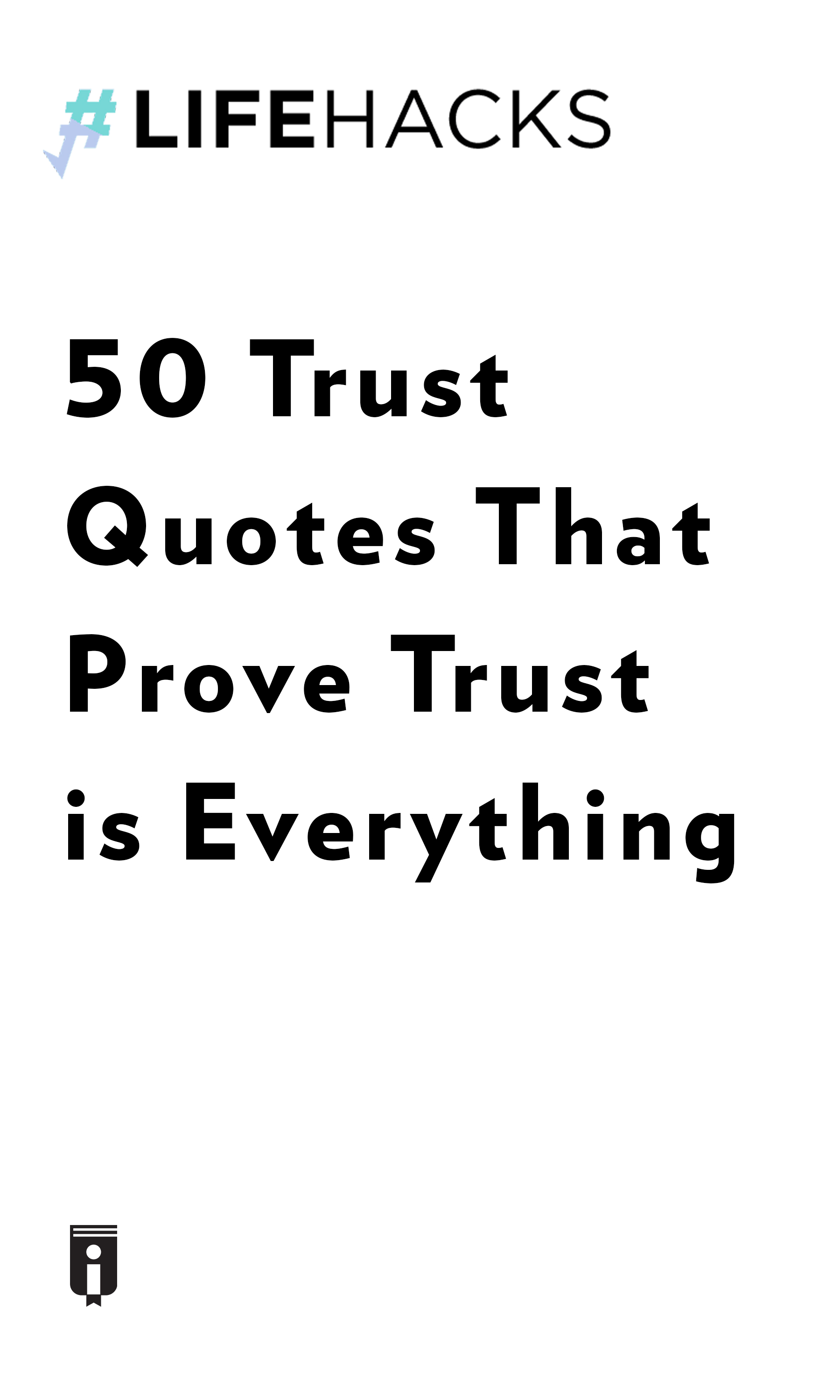"""Book Cover for """"50 Trust Quotes That Prove Trust is Everything"""""""