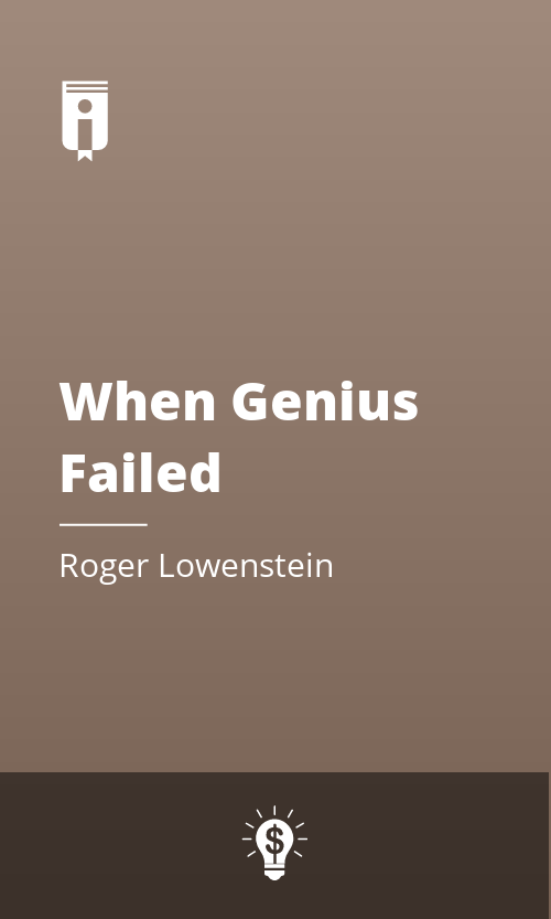 """Book Cover for """"When Genius Failed"""""""