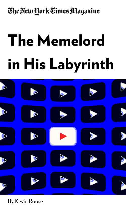 "Book Cover for ""The Memelord in His Labyrinth"""