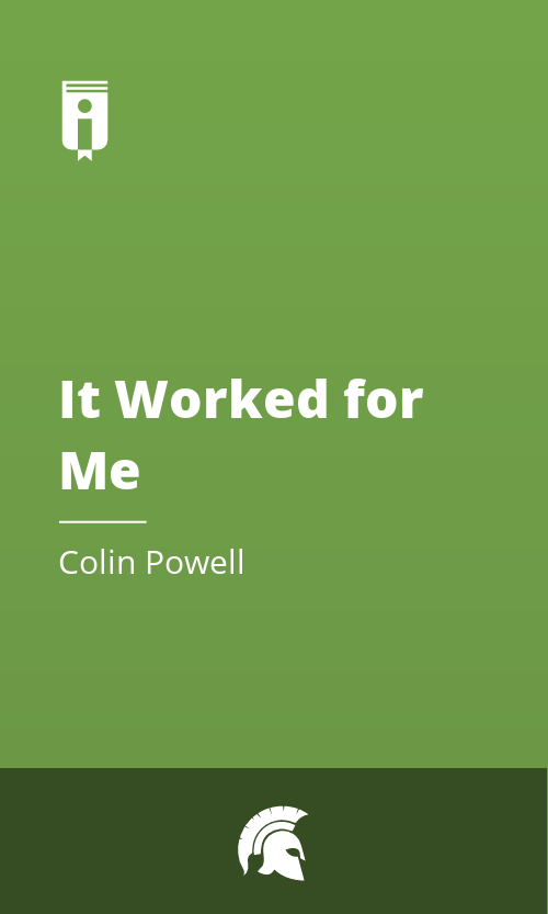 """Book Cover for """"It Worked for Me"""""""