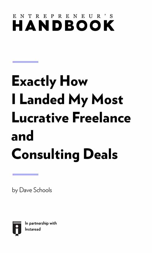 "Book Cover for ""Exactly How I Landed My Most Lucrative Freelance and Consulting Deals"""