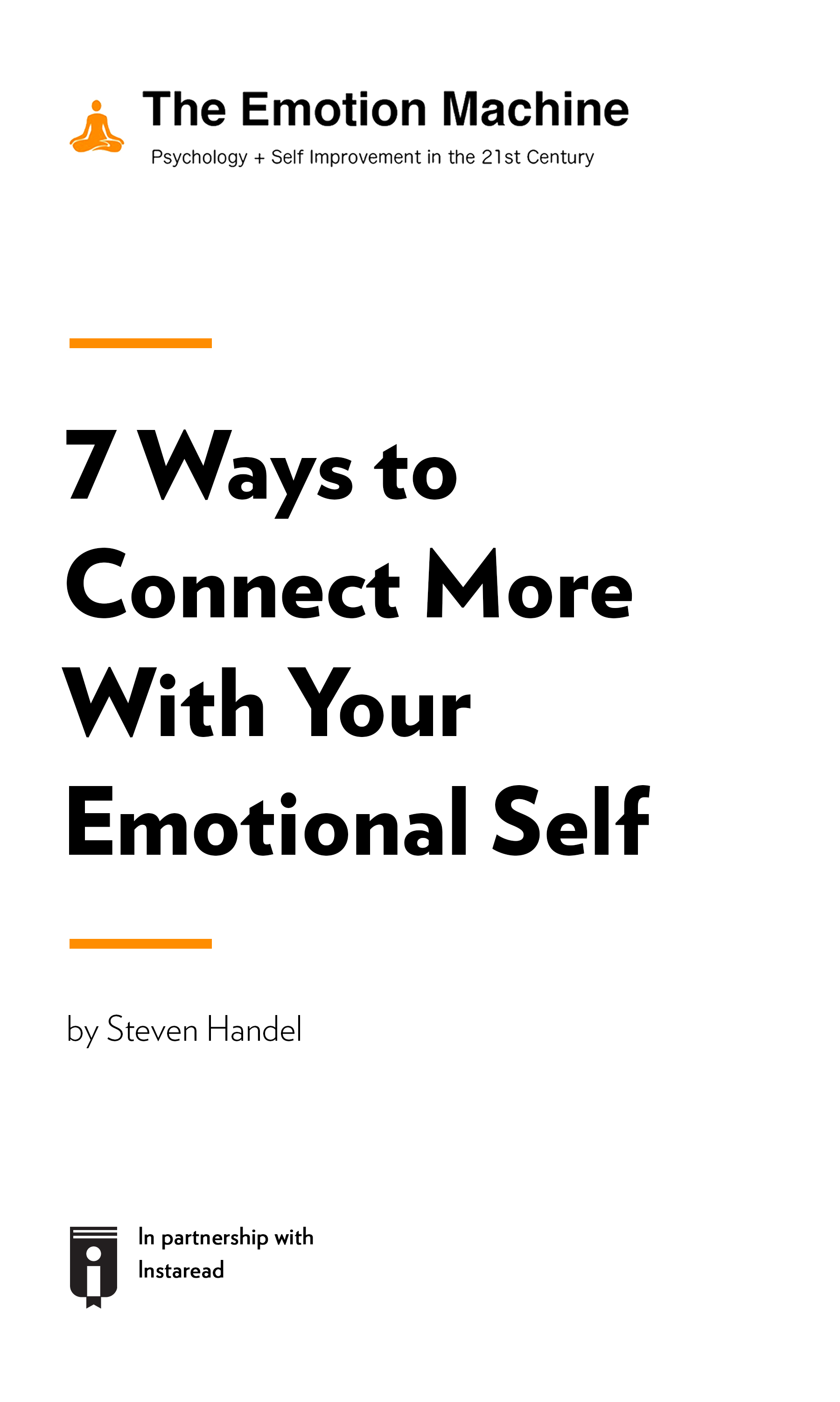 "Book Cover for ""7 Ways to Connect More With Your Emotional Self"""