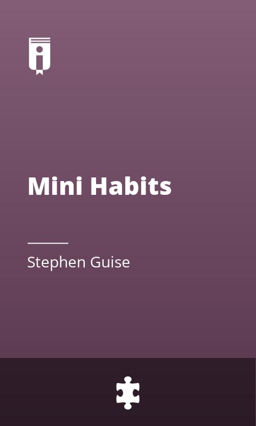 """Book Cover for """"Mini Habits"""""""