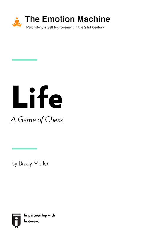 "Book Cover for ""Life: A Game of Chess"""
