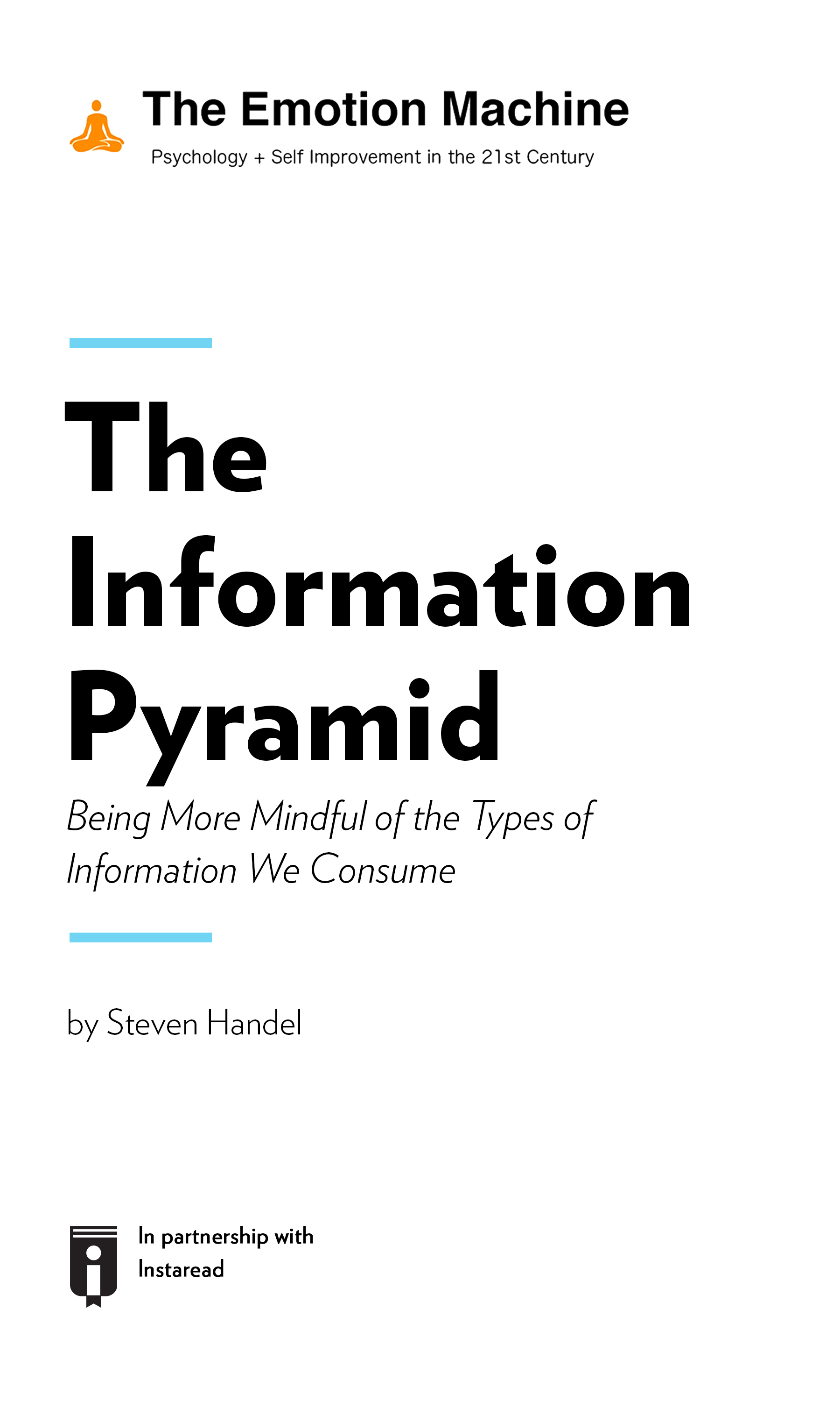 "Book Cover for ""The Information Pyramid: Being More Mindful of the Types of Information We Consume"""