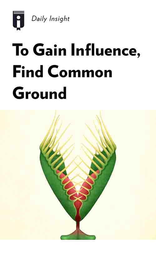 "Book Cover for ""To Gain Influence, Find Common Ground"""