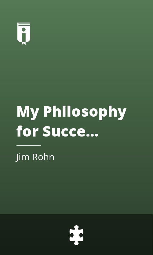 """Book Cover for """"My Philosophy for Successful Living"""""""