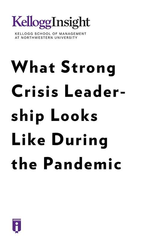 "Book Cover for ""What Strong Crisis Leadership Looks Like during the Pandemic"""