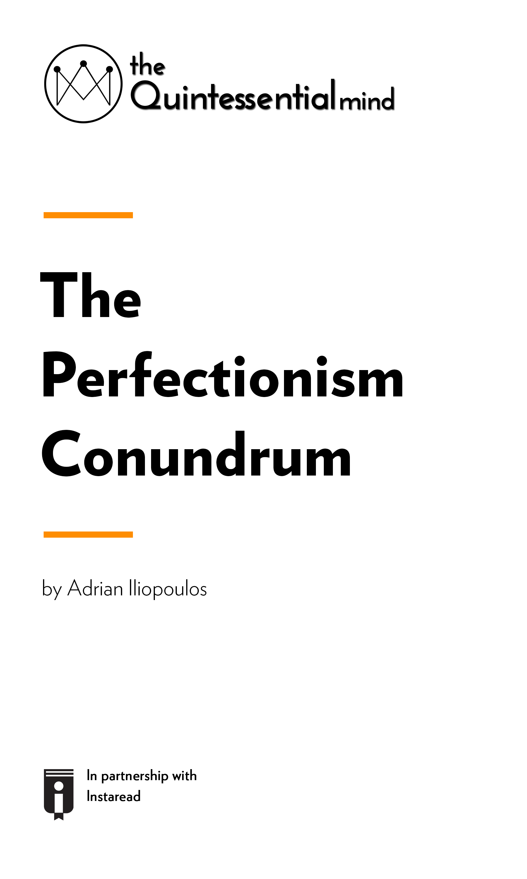 """Book Cover for """"The Perfectionism Conundrum – A Guide to Overcoming Perfectionism and Its Ramifications"""""""