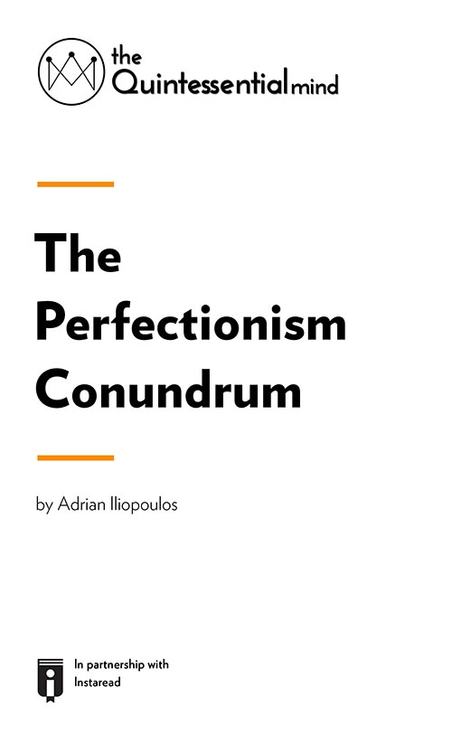 "Book Cover for ""The Perfectionism Conundrum – A Guide to Overcoming Perfectionism and Its Ramifications"""