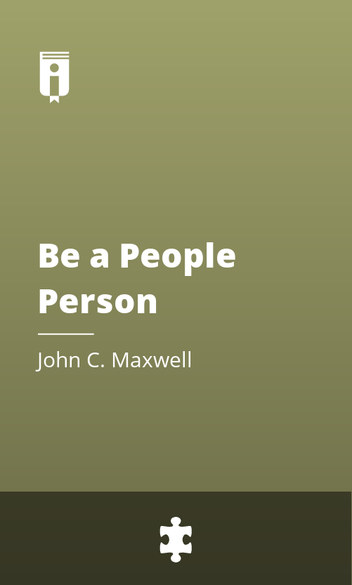"""Book Cover for """"Be a People Person"""""""