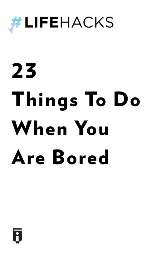 "Book Cover for ""23 Things To Do When You Are Bored"""