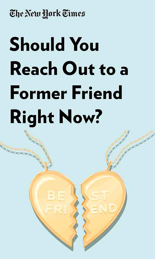 "Book Cover for ""Should You Reach Out to a Former Friend Right Now?"""
