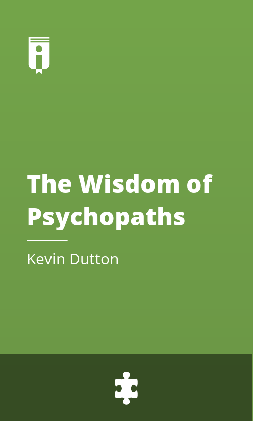 "Book Cover for ""The Wisdom of Psychopaths"""