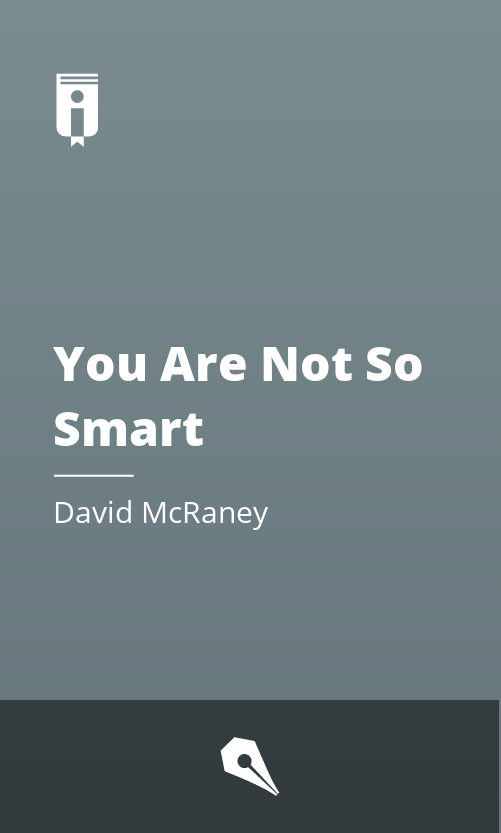 """Book Cover for """"You Are Not So Smart"""""""
