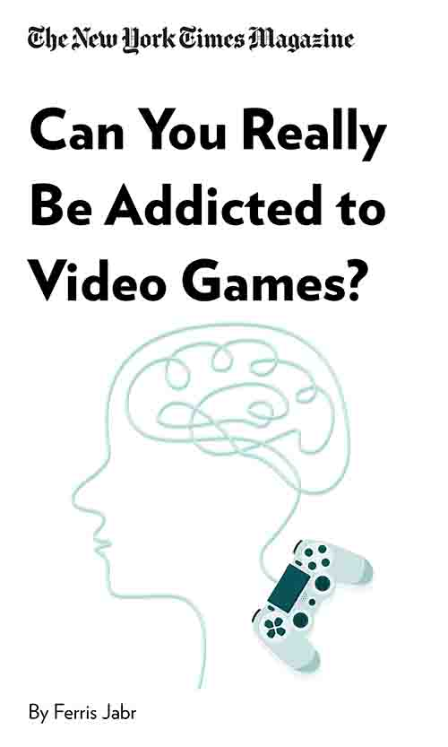 "Book Cover for ""Can You Really Be Addicted to Video Games?"""