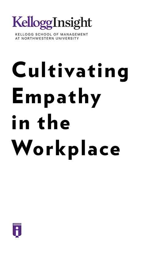 "Book Cover for ""Cultivating Empathy in the Workplace"""