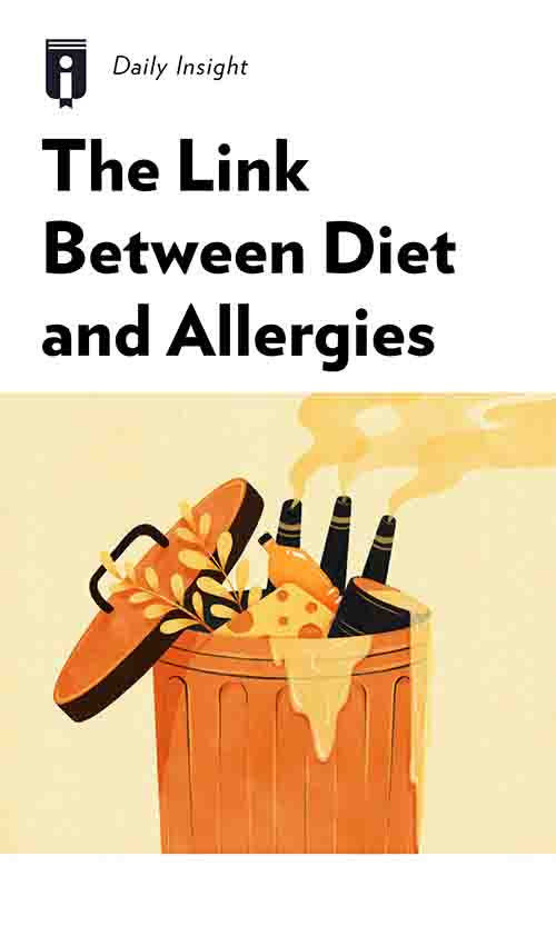 "Book Cover for ""The Link Between Diet and Allergies"""