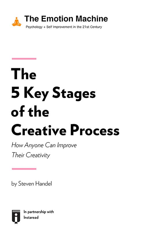 "Book Cover for ""The 5 Key Stages of the Creative Process: How Anyone Can Improve Their Creativity"""