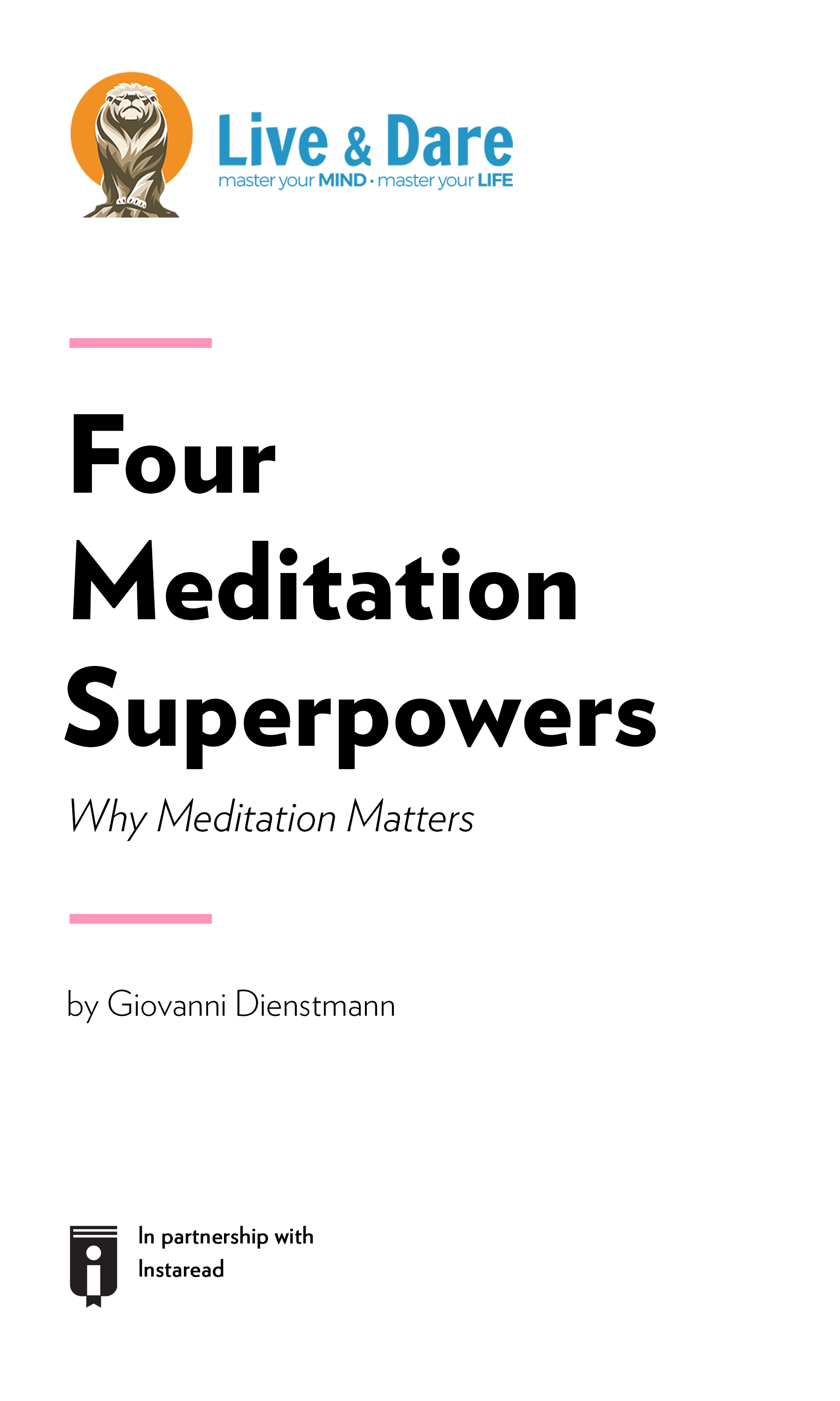 """Book Cover for """"Four Meditation Superpowers – Why Meditation Matters"""""""