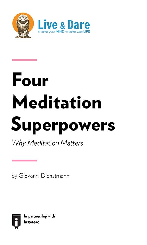 "Book Cover for ""Four Meditation Superpowers – Why Meditation Matters"""