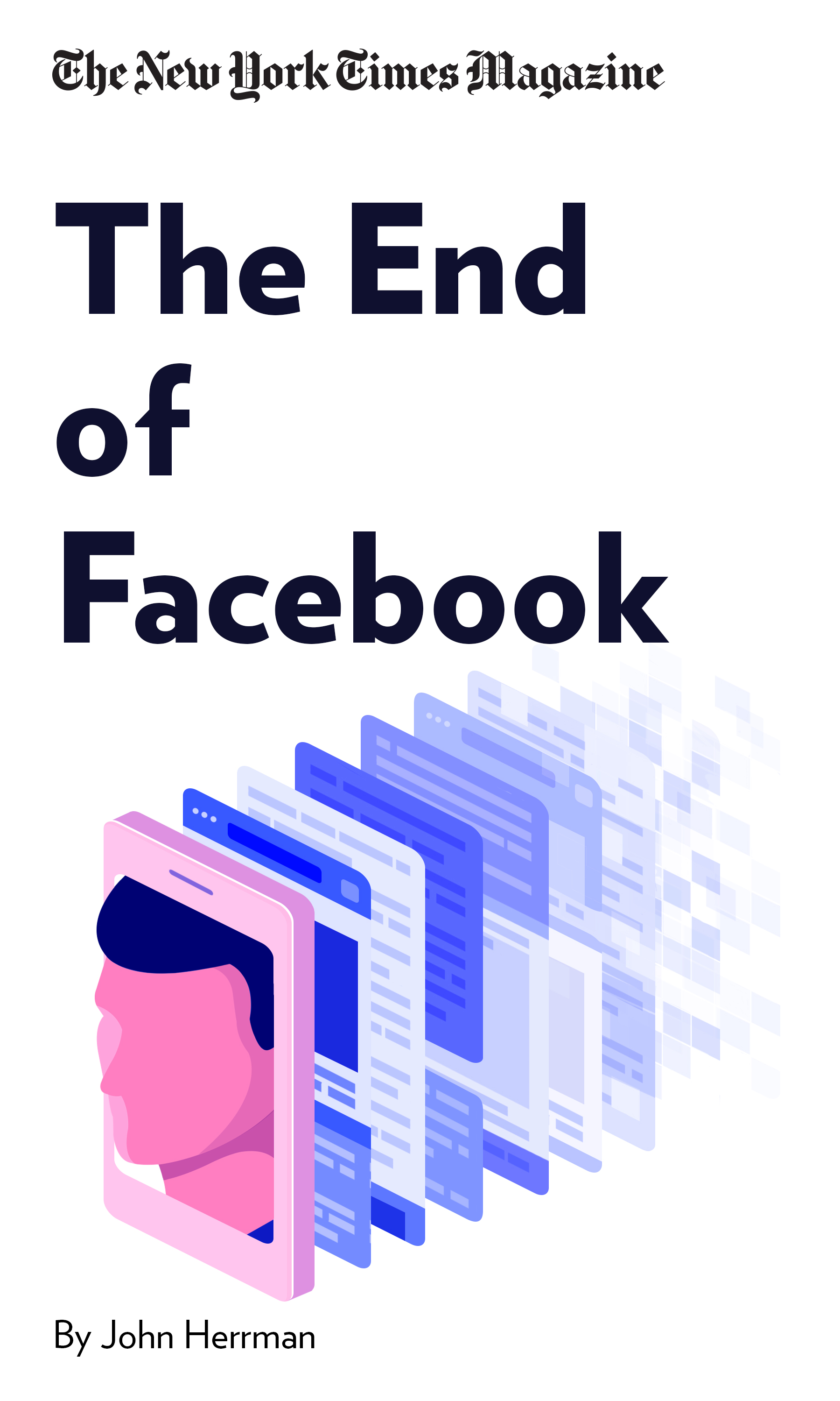 "Book Cover for ""The End of Facebook"""