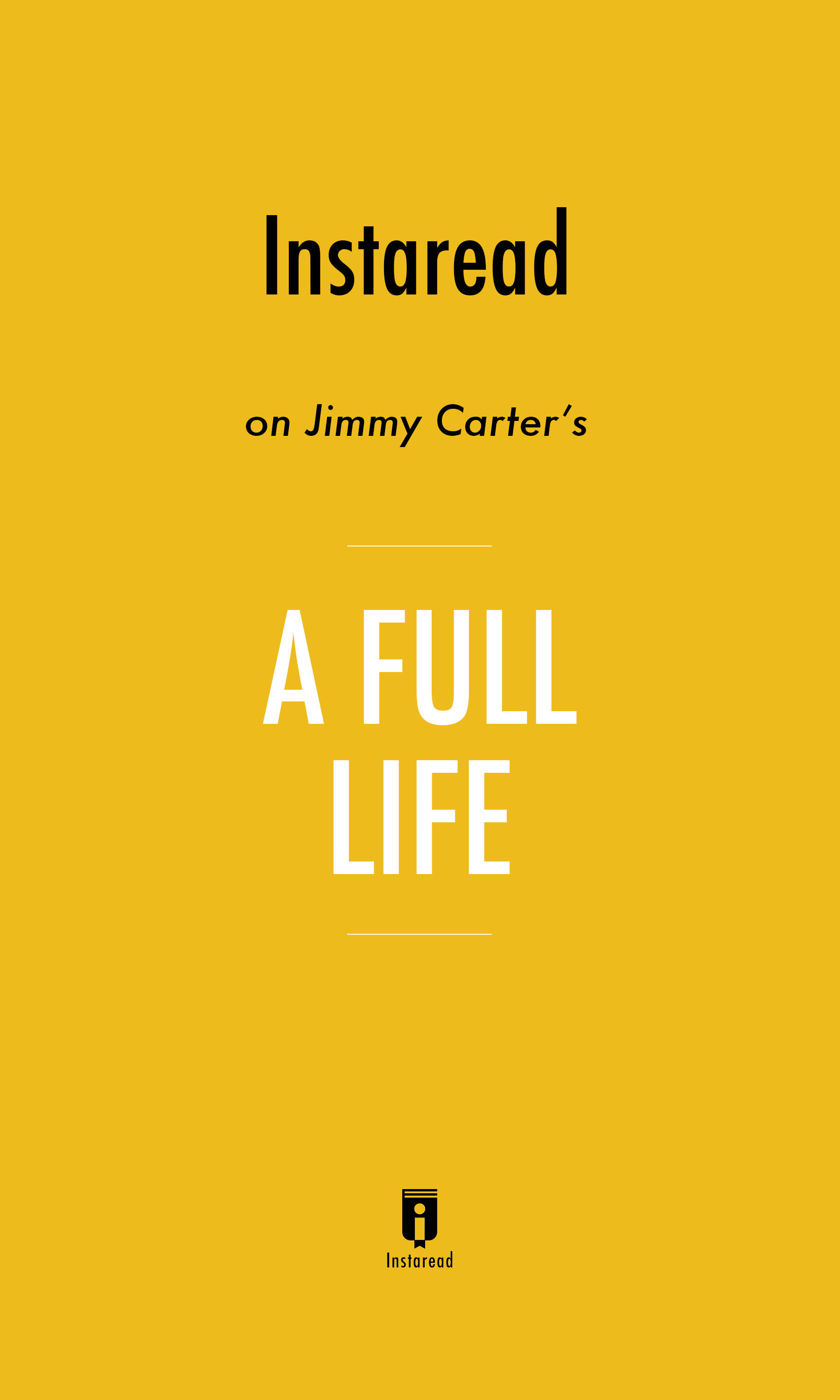 "Book Cover for ""A Full Life"""