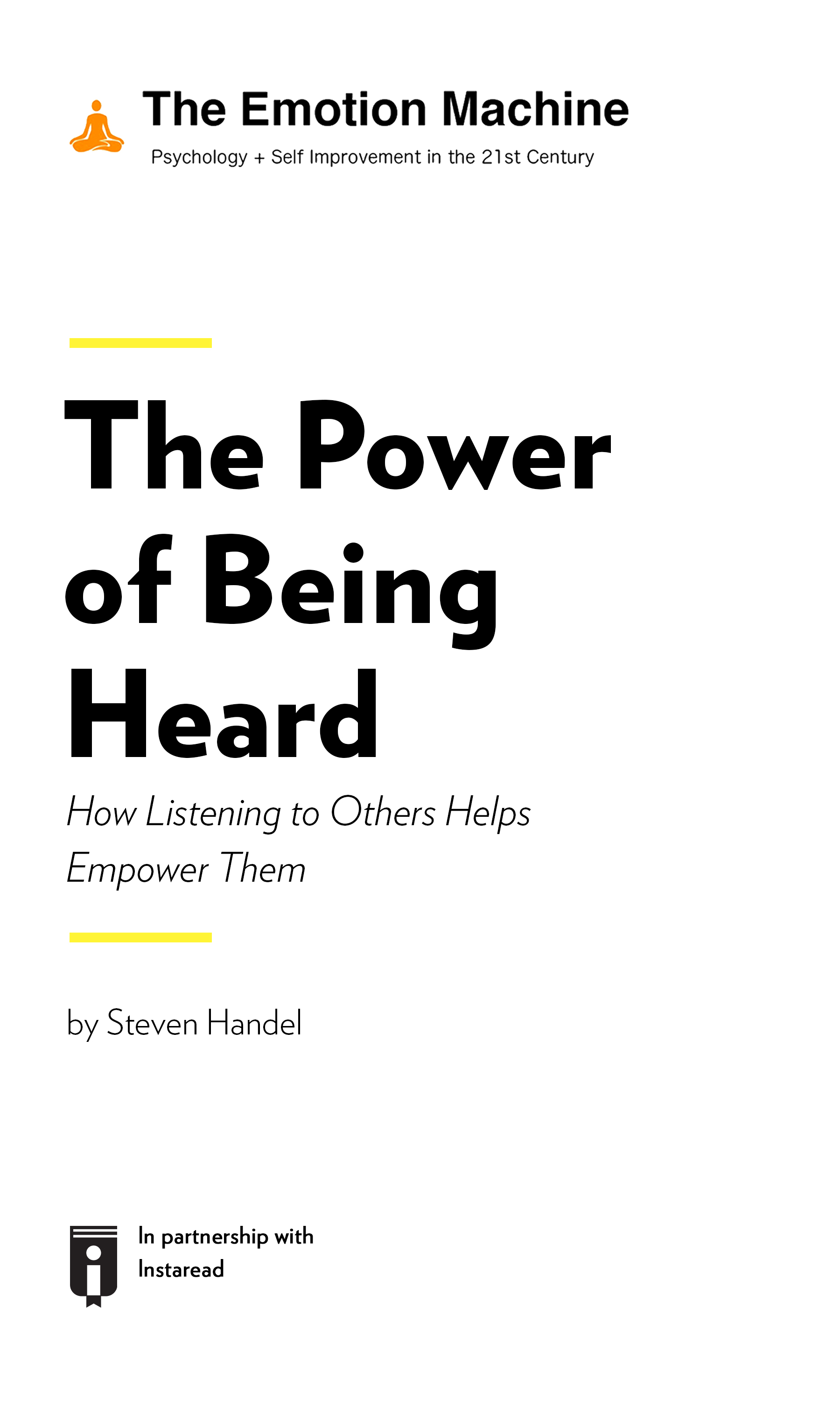 """Book Cover for """"The Power of Being Heard: How Listening to Others Helps Empower Them"""""""