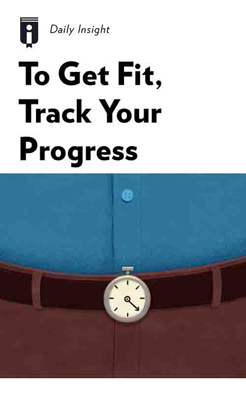 "Book Cover for ""To Get Fit, Track Your Progress"""