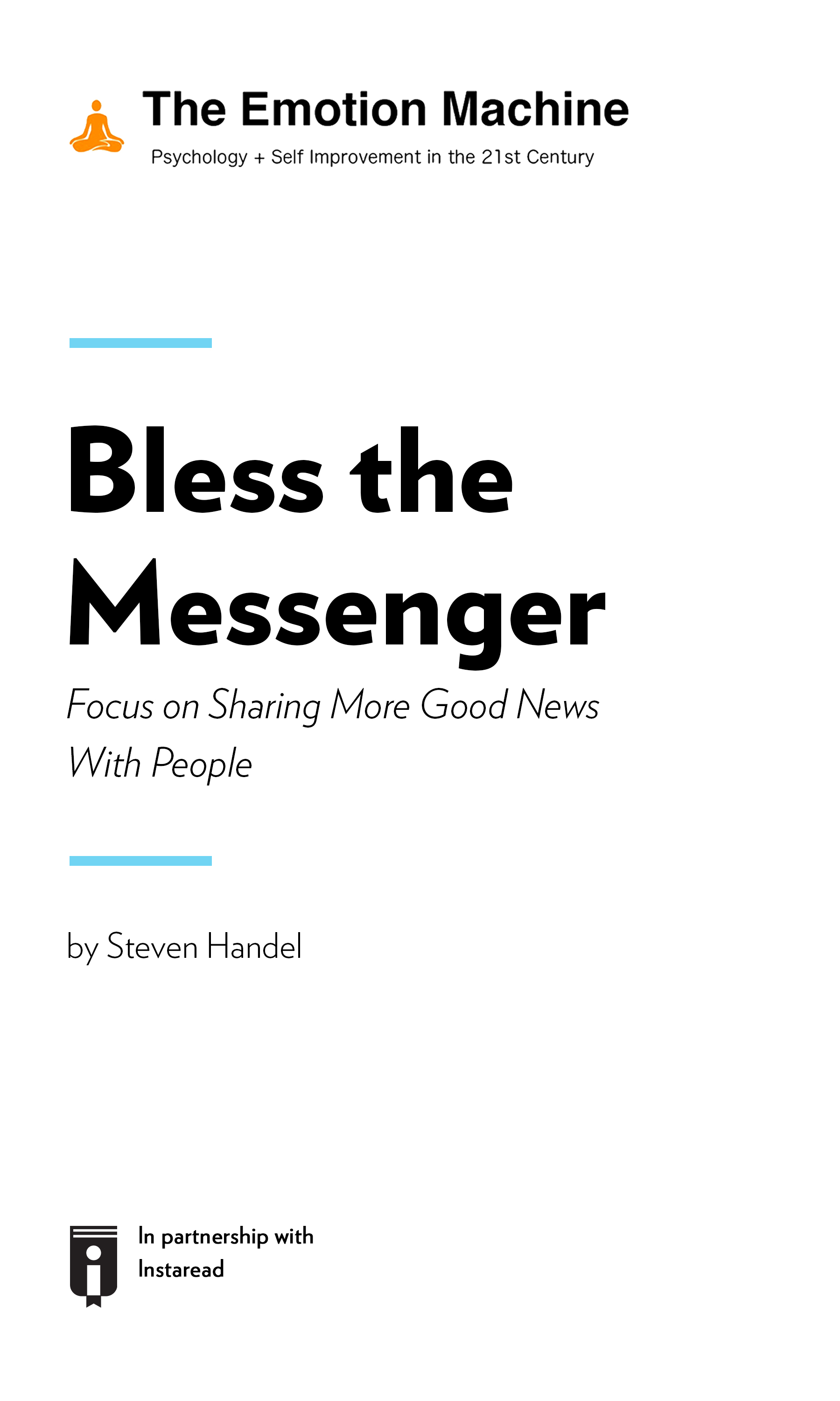"""Book Cover for """"Bless the Messenger: Focus on Sharing More Good News With People"""""""