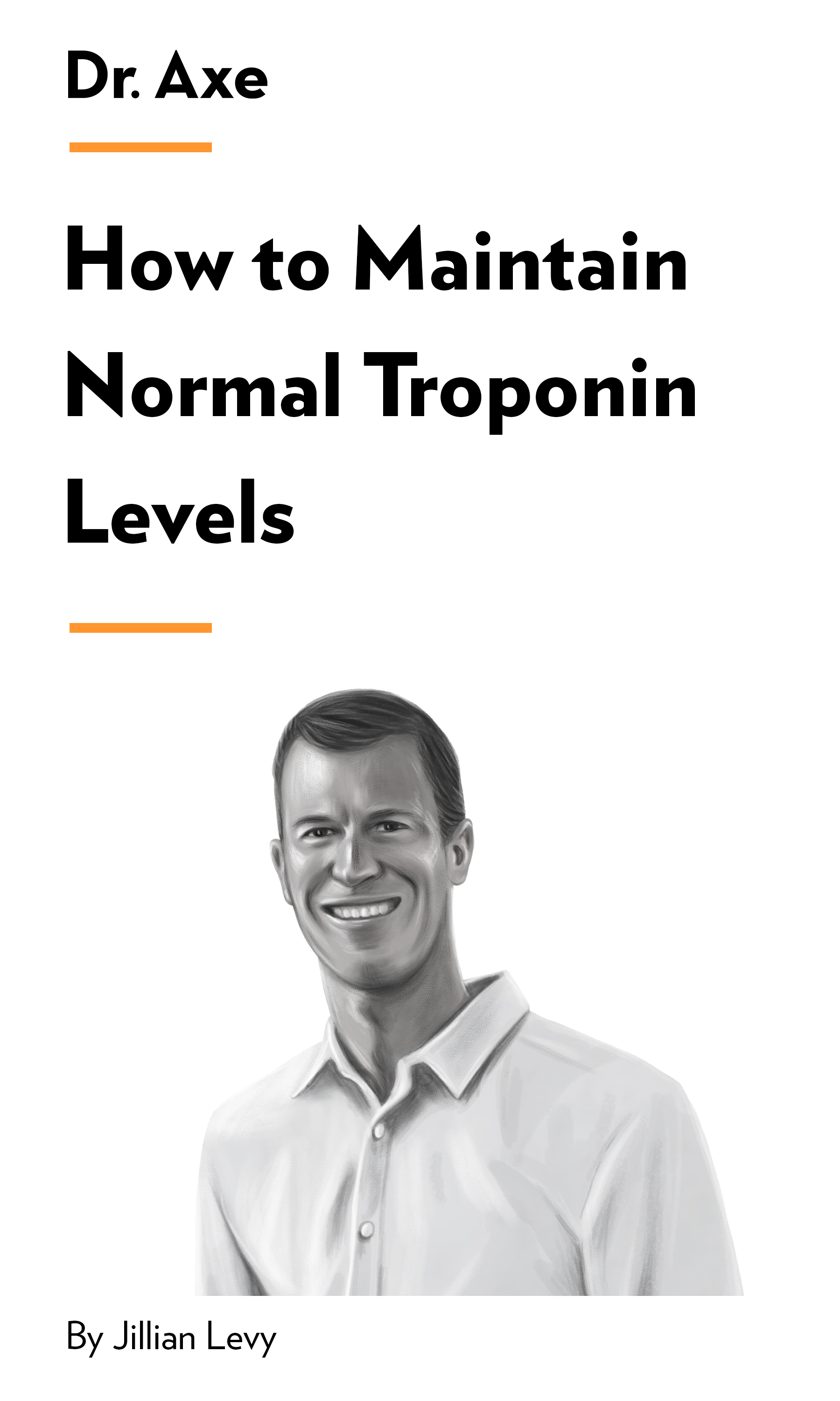 """Book Cover for """"How to Maintain Normal Troponin Levels"""""""