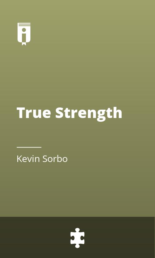 """Book Cover for """"True Strength"""""""