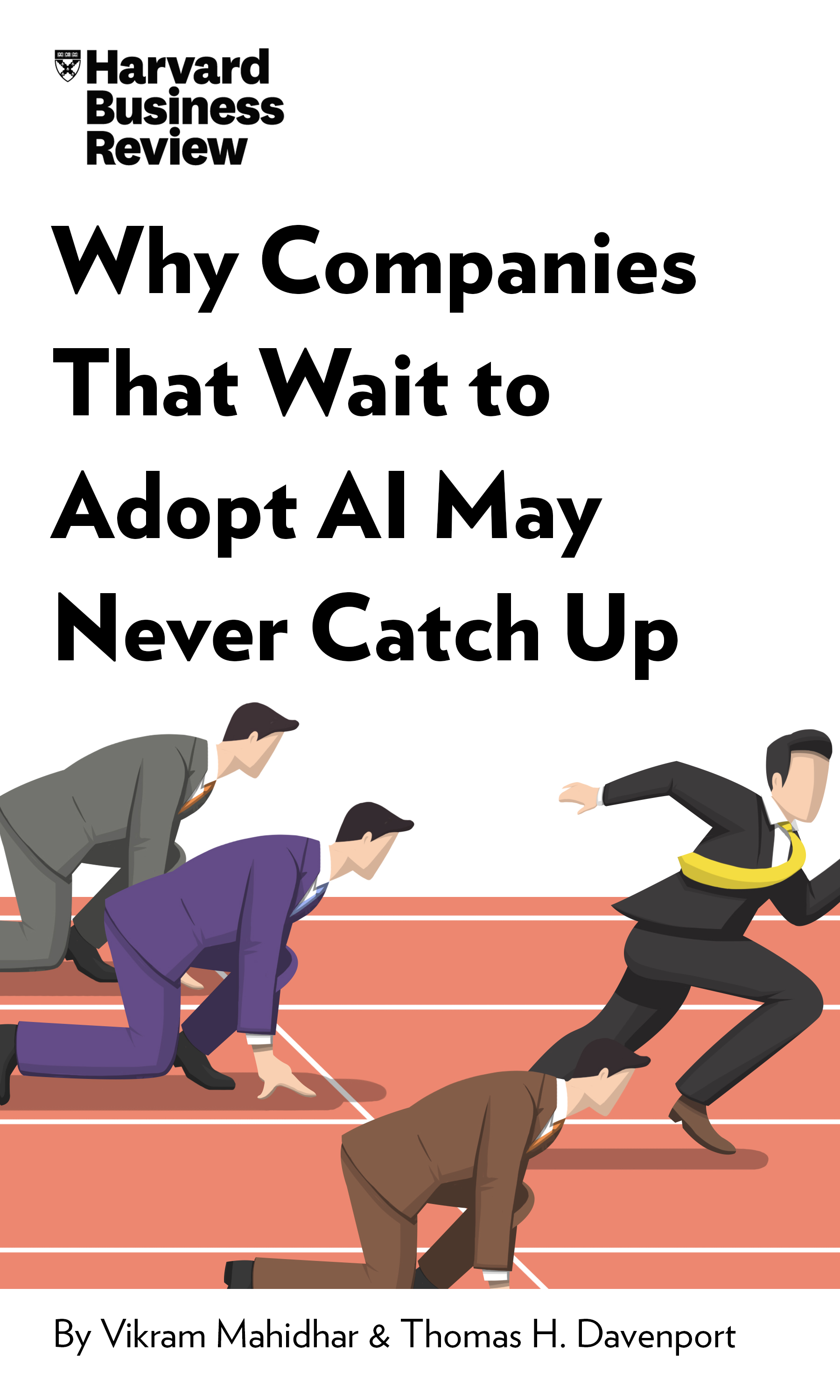 "Book Cover for ""Why Companies That Wait to Adopt AI May Never Catch Up"""