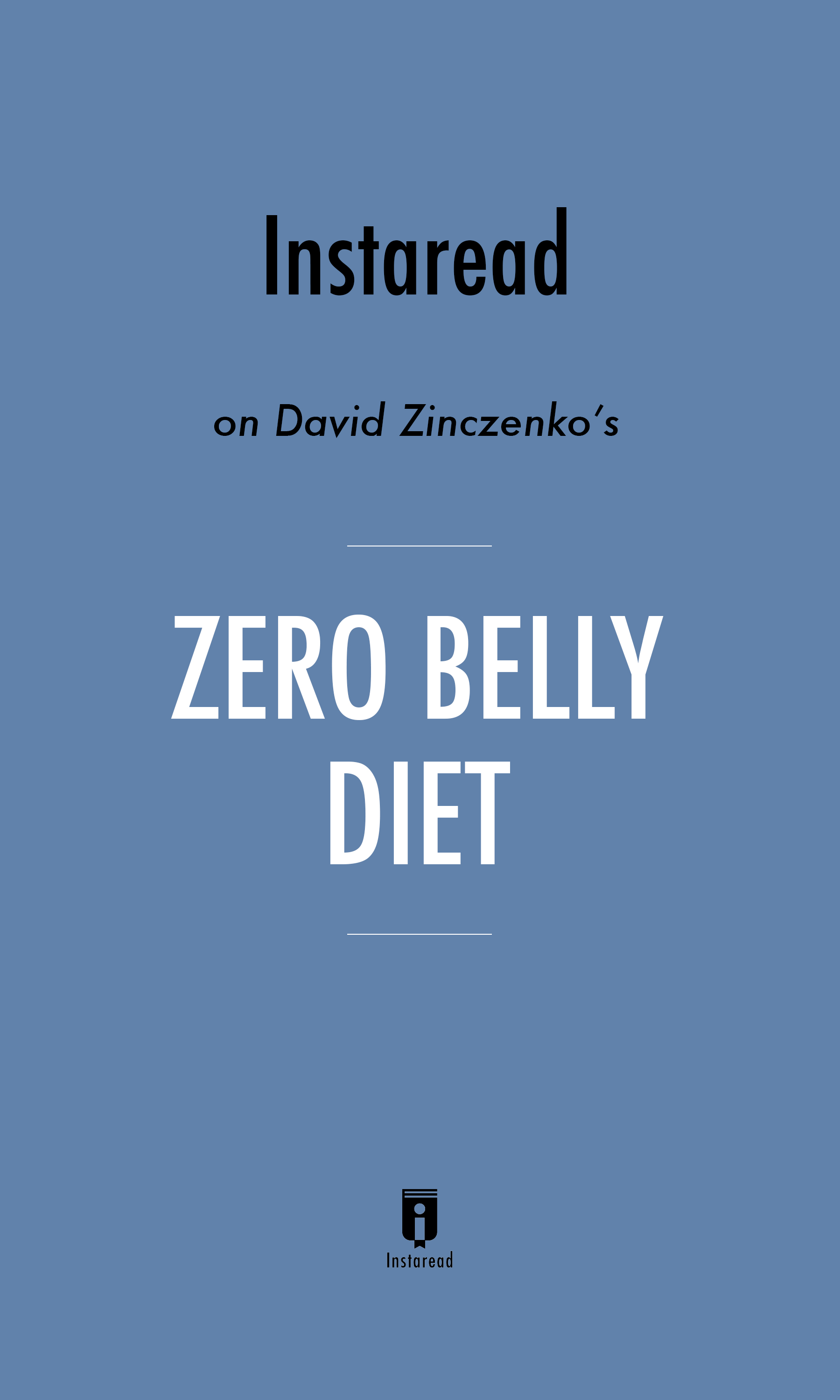 "Book Cover for ""Zero Belly Diet"""