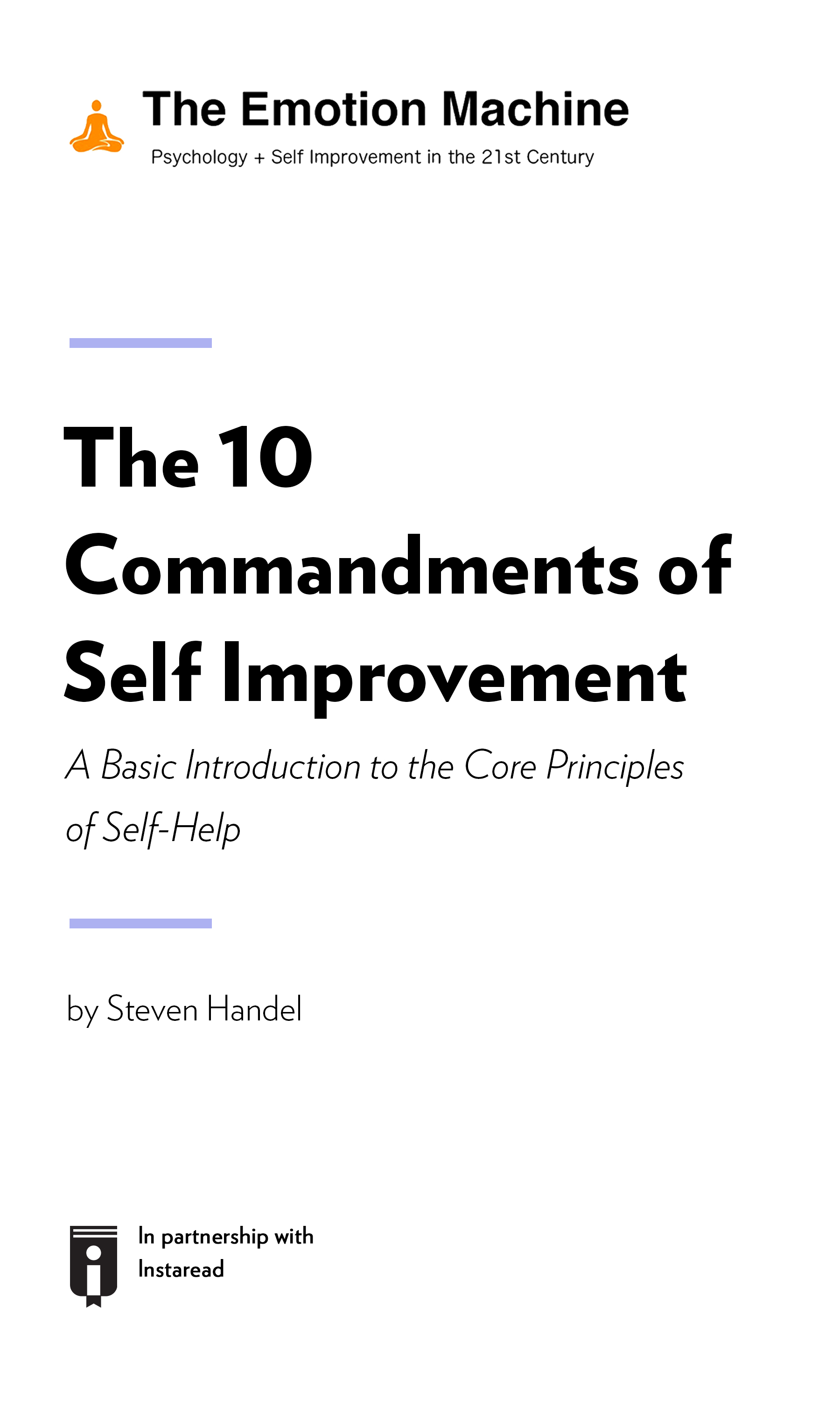 """Book Cover for """"The 10 Commandments of Self Improvement: A Basic Introduction to the Core Principles of Self-Help"""""""