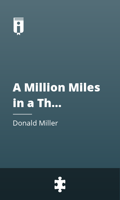 "Book Cover for ""A Million Miles in a Thousand Years"""