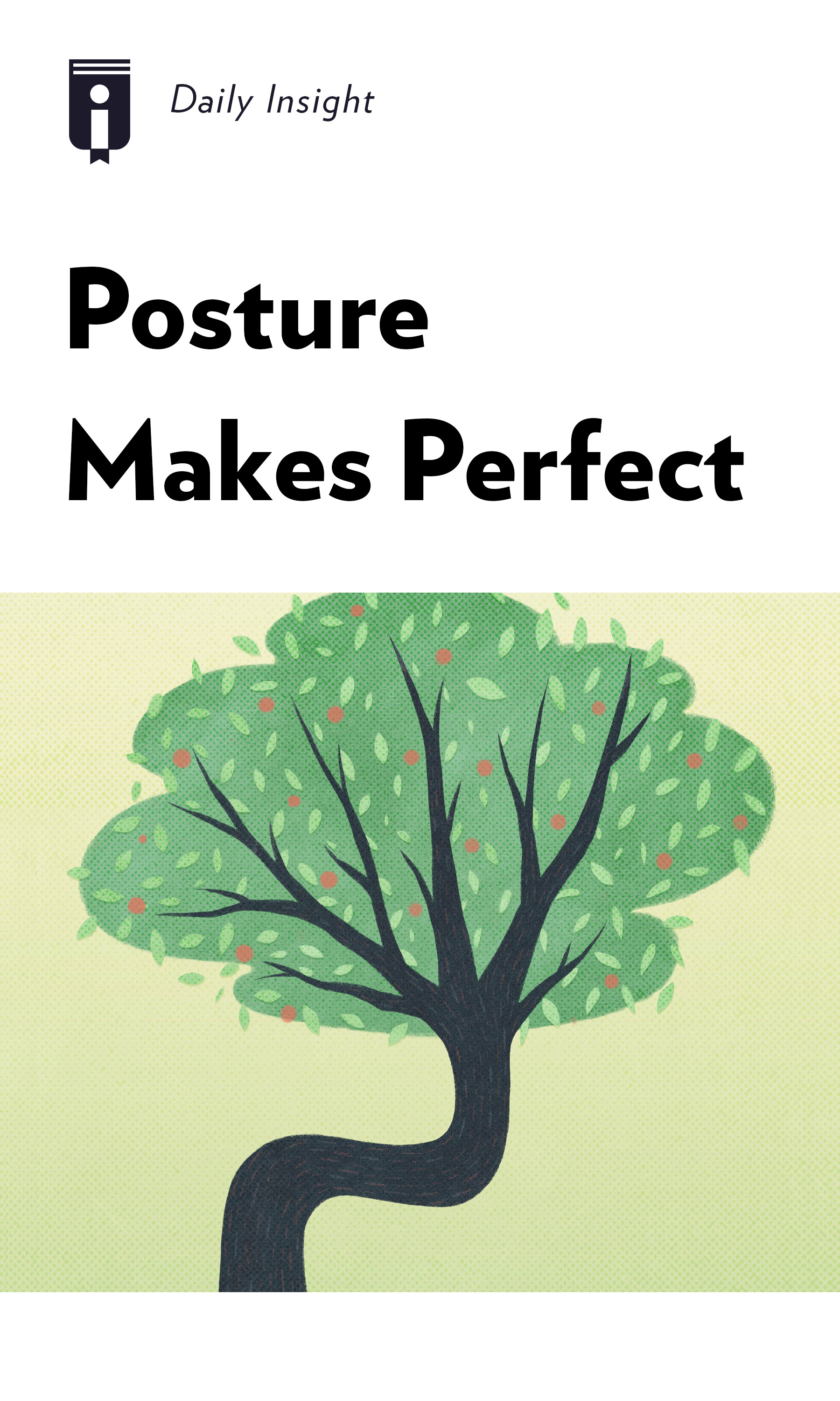 "Book Cover for ""Posture Makes Perfect"""