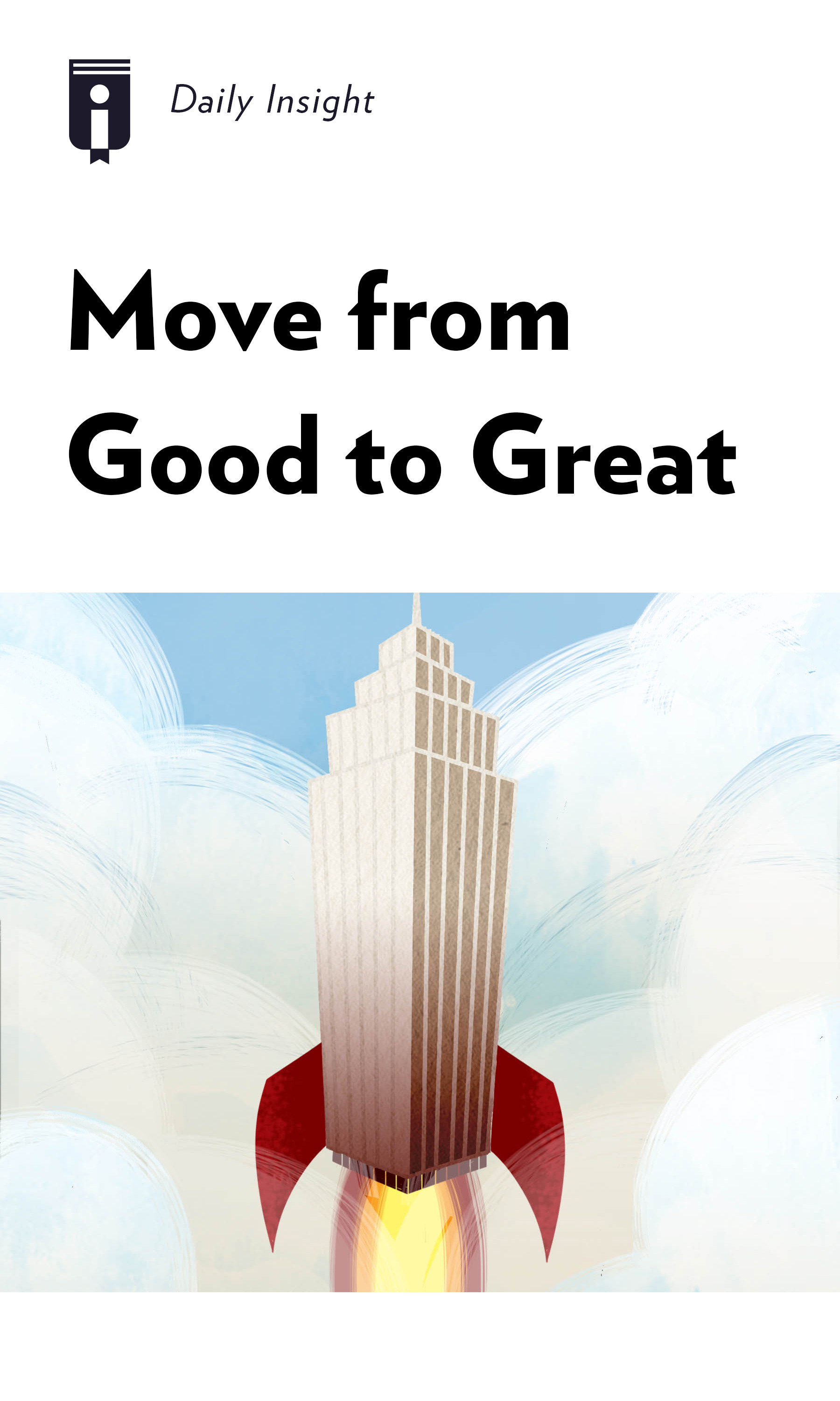 """Book Cover for """"Move from Good to Great"""""""