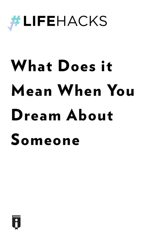 "Book Cover for ""What Does it Mean When You Dream About Someone"""