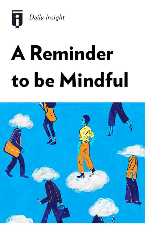 "Book Cover for ""A Reminder to be Mindful"""