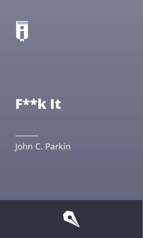 """Book Cover for """"F**k It"""""""