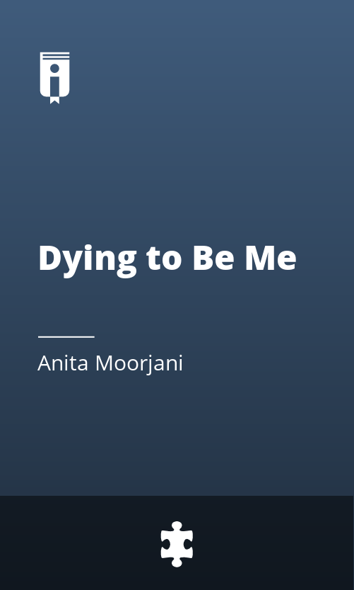 """Book Cover for """"Dying to Be Me"""""""