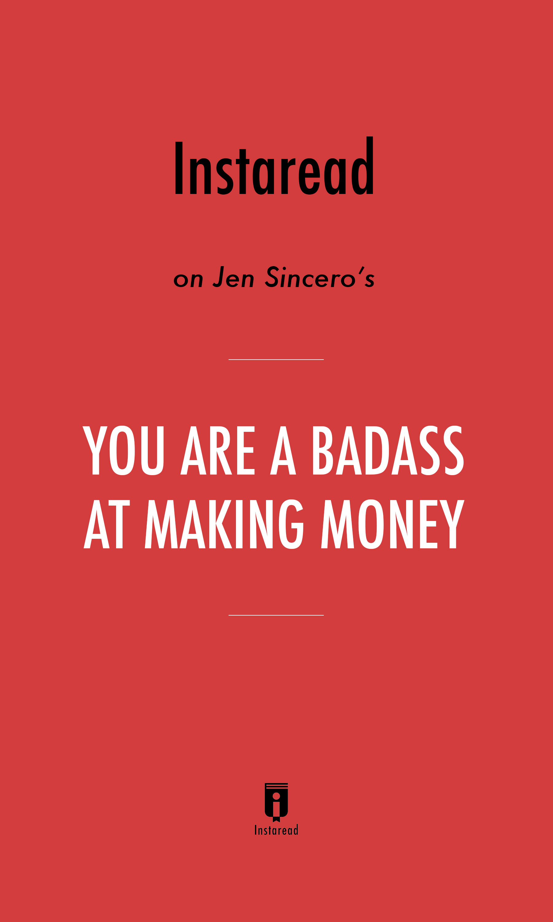 "Book Cover for ""You Are a Badass at Making Money"""